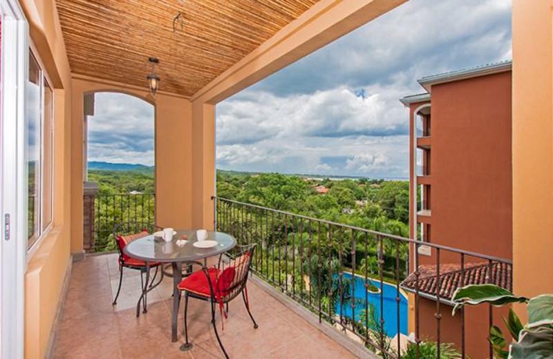 Rental balcony at Vacation Rentals of Tamarindo.