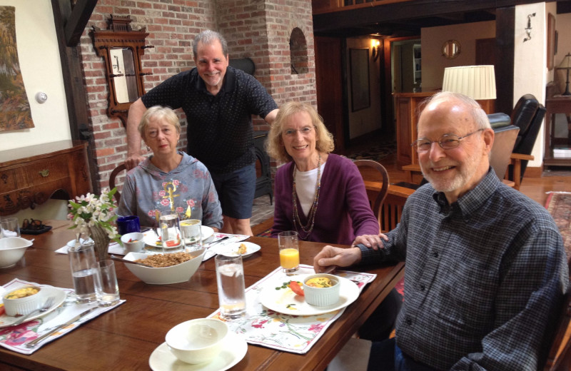 Dining  at Morning Glory Inn.