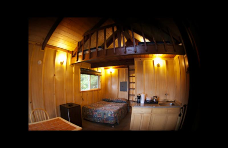 Cabin interior at Quileute Oceanside Resort.