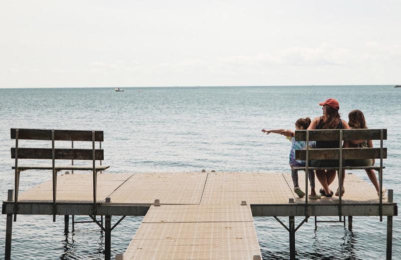 Dock at The Red Door Resort.