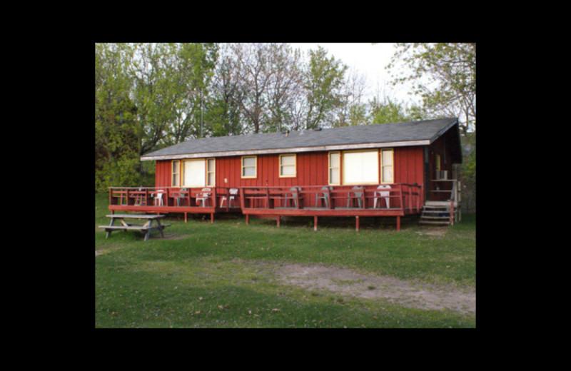 Cabin exterior at Birch Bay Resort.