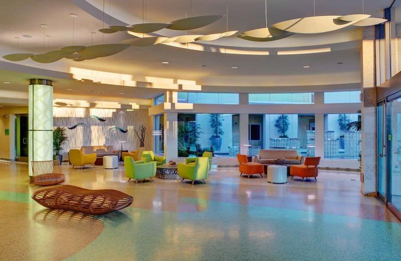 Lobby at Pier South Resort.
