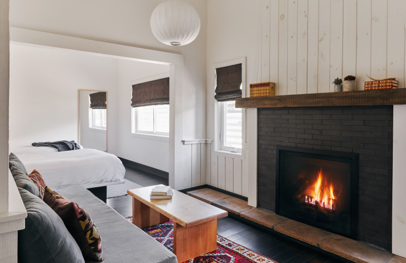 Guest room at Scribner's Catskill Lodge.
