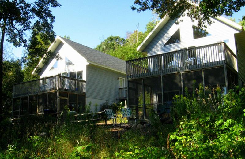 Cabin exterior at Shady Hollow Resort.