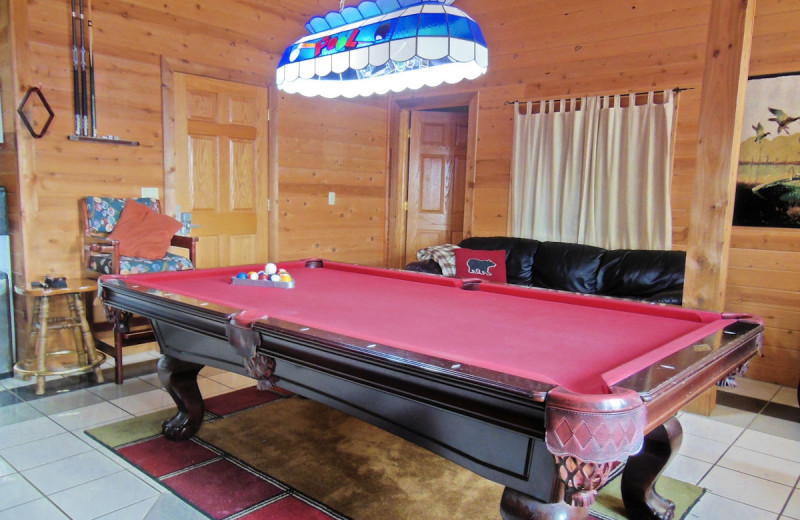 Play pool with our friends in the lower level if you are not relaxing on the deck overlooking the lake.