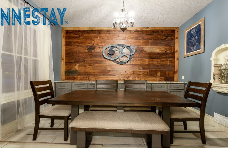 Rental dining room at Minnestay.