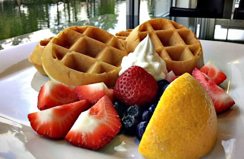 Waffle breakfast at Holiday Inn Resort Orlando Suites - Waterpark.