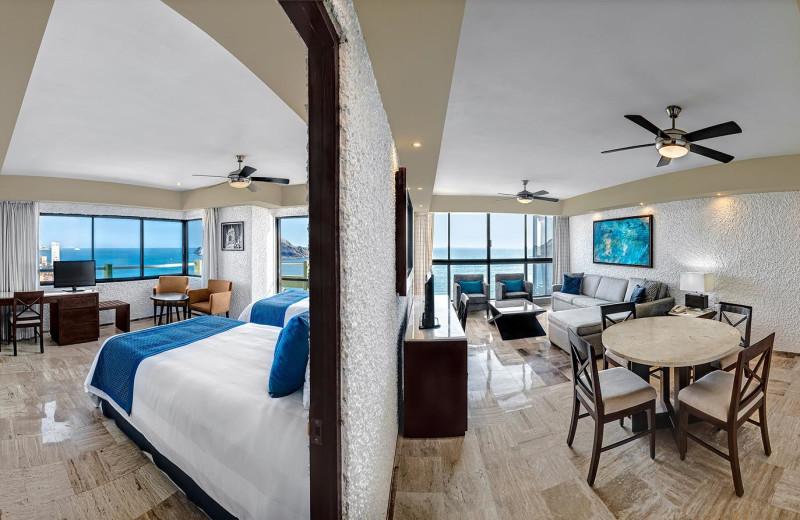 Guest suite at El Moro Beach Hotel.