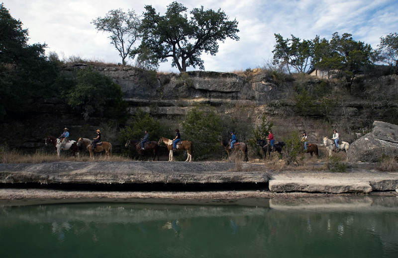 Horseback riding at Flying L Hill Country Resort & Conference Center.