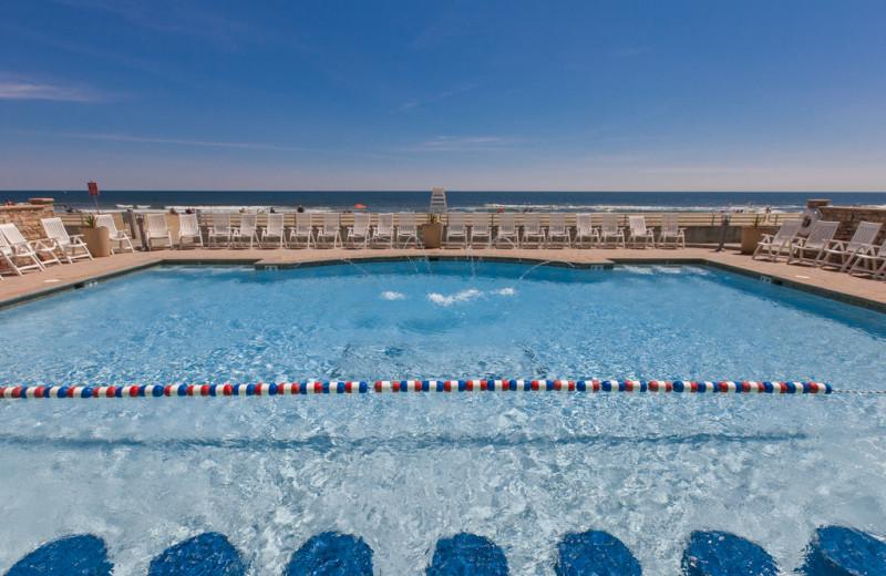 Rental pool at Sanctuary Vacation Rentals at Sandbridge.