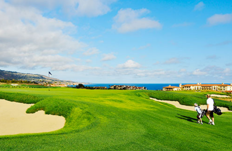 Golf course at Terranea Resort.