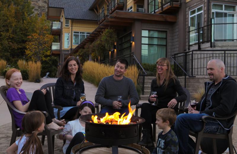 Bonfire at Summerland Waterfront Resort.