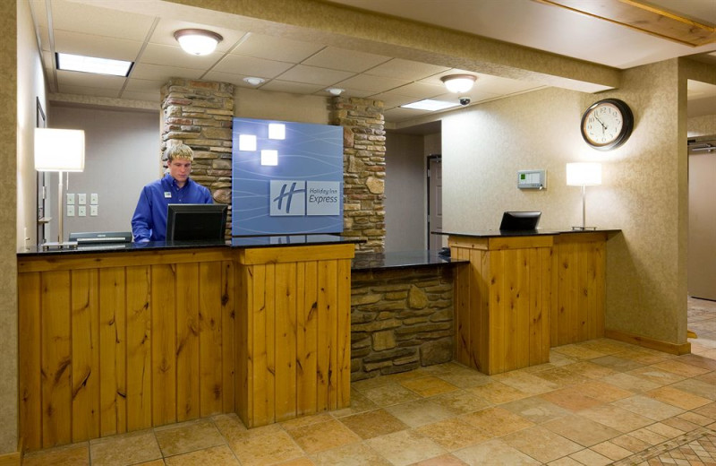 Check in at Holiday Inn Express Brainerd/Baxter.