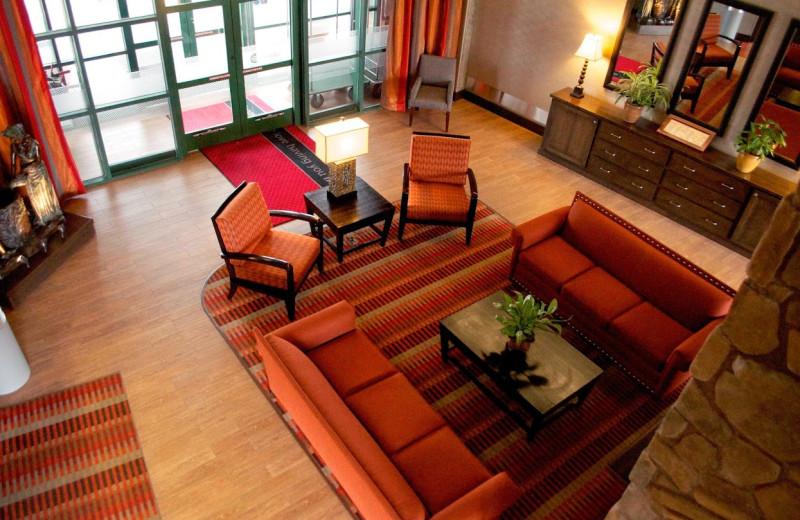 Lobby at Hampton Inn & Suites Flagstaff.