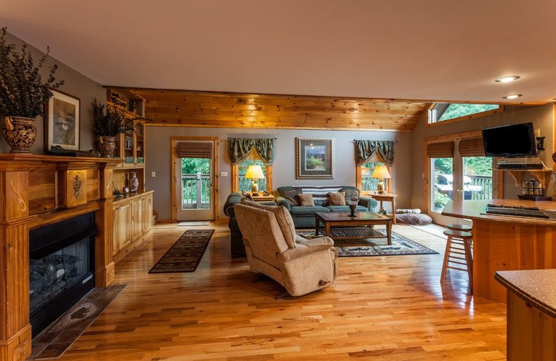 Cabin interior at Mountain Oasis Cabin Rentals.