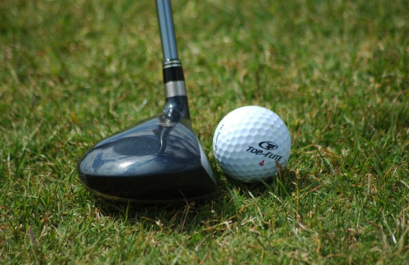 Golf course near Auntie Belham's Cabin Rentals.