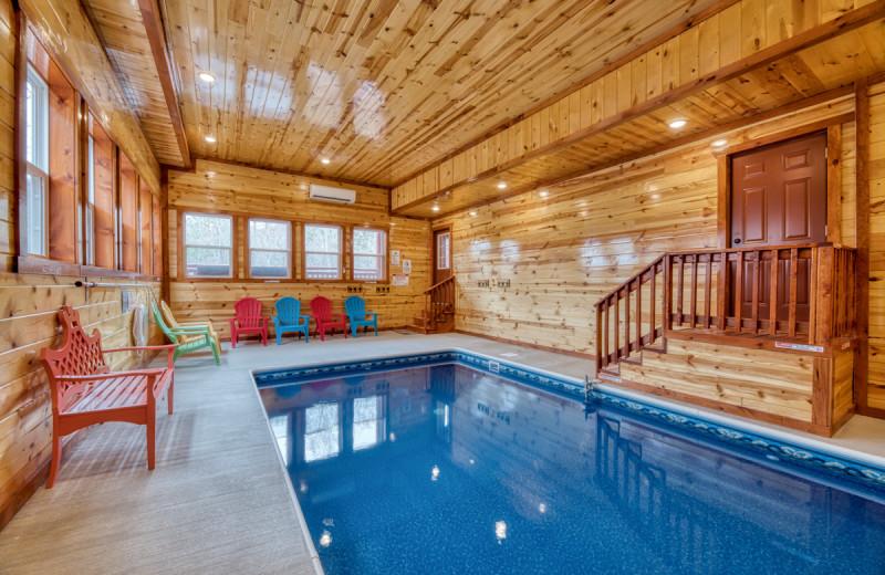 Rental indoor pool at Natural Retreats Great Smoky Mountains.