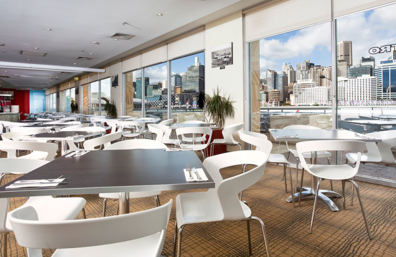 Dining at Ibis Hotel Darling Harbour.