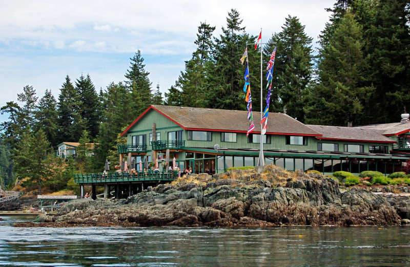 Exterior view of April Point Lodge and Fishing Resort.