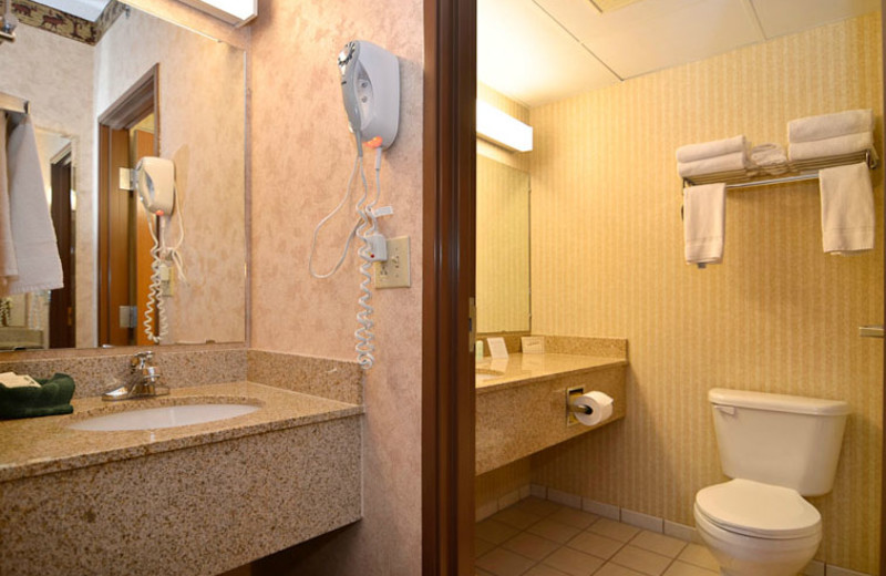 Suite Bathroom at  Comfort Inn & Suites