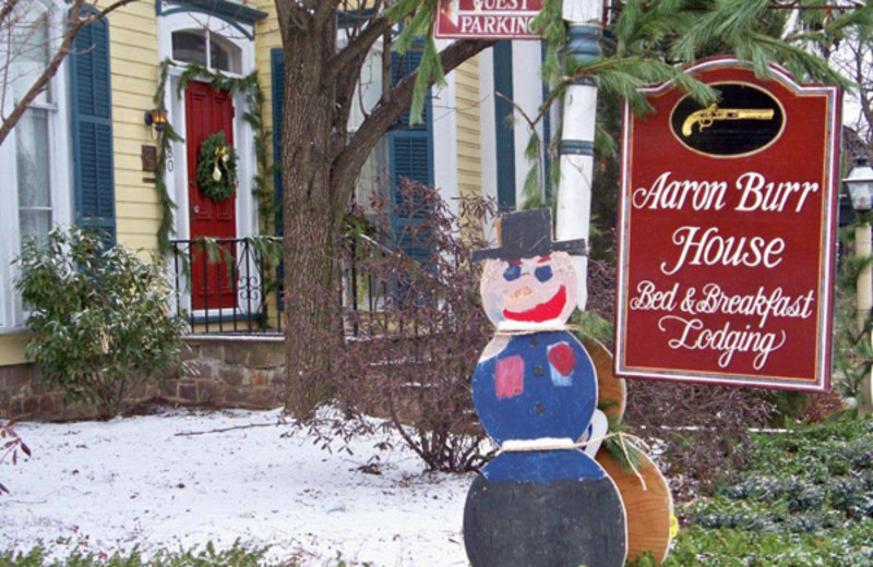 Holidays at Aaron Burr House Bed & Breakfast Lodging.