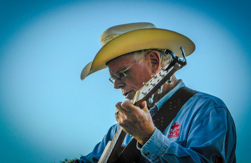 Musician at Flying L Hill Country Resort & Conference Center.