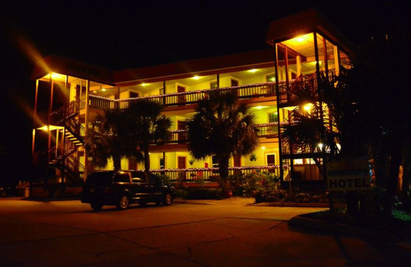 Exterior View of The Saint Augustine Beach House at Night