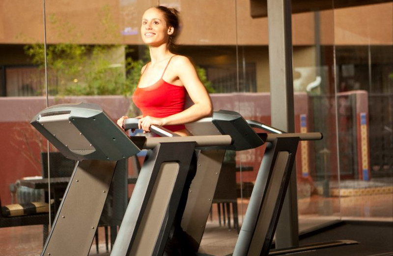 The fitness center at Sedona Rouge Hotel & Spa.
