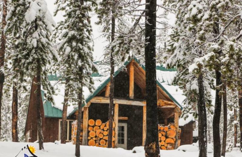 Cabin exterior at Elk Lake Resort.