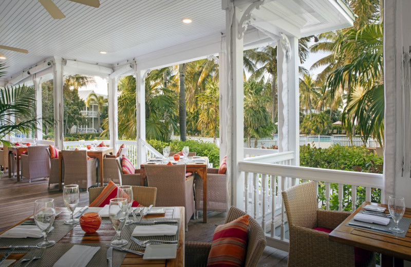 Dining at Tranquility Bay Beach House Resort.