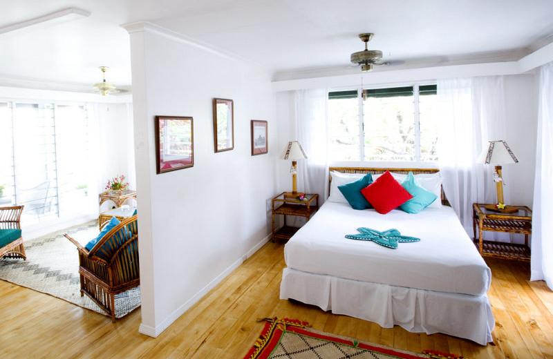 Guest room at Nukubati Island.