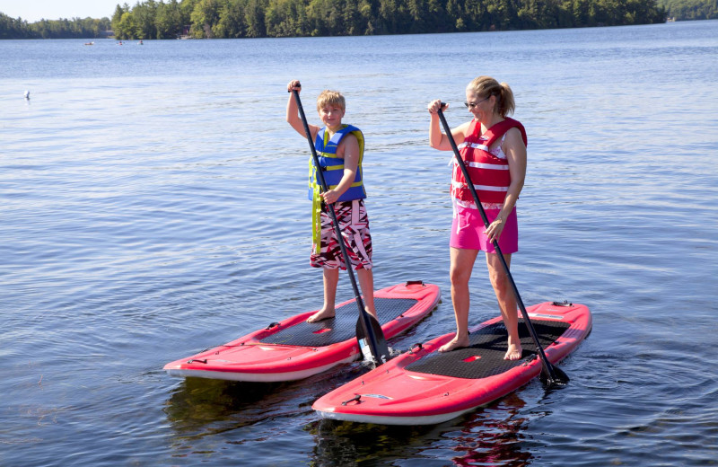 Paddle board at Severn Lodge.