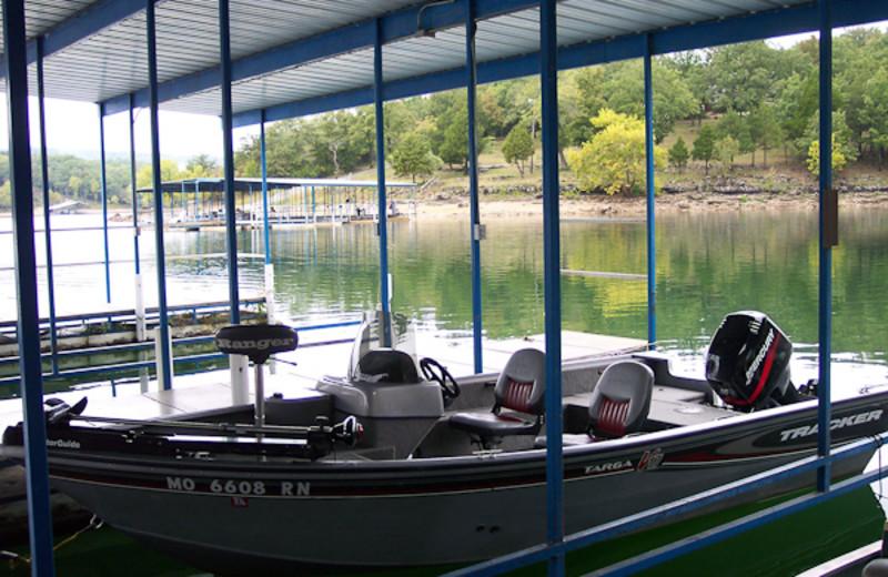 Boats at Alpine Lodge Resort.