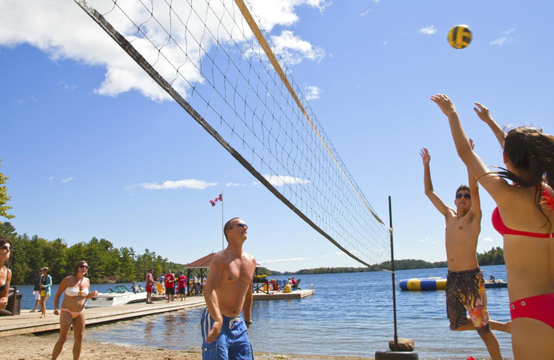 Volleyball at Severn Lodge.