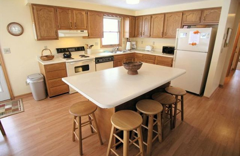 Vacation rental kitchen at Best of Canaan.