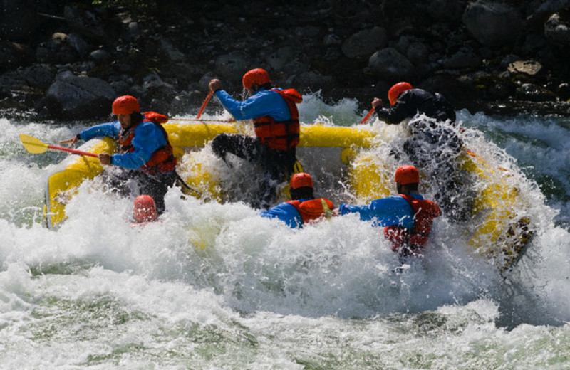 Group rafting at REO Rafting Resort.