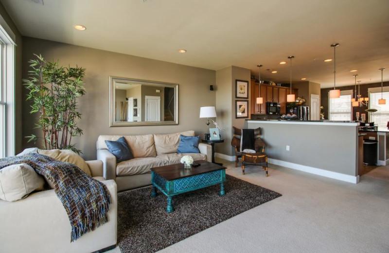Rental living room at Vacasa Ocean City.