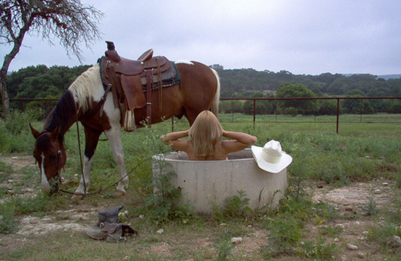 Relaxing at Rancho Cortez.