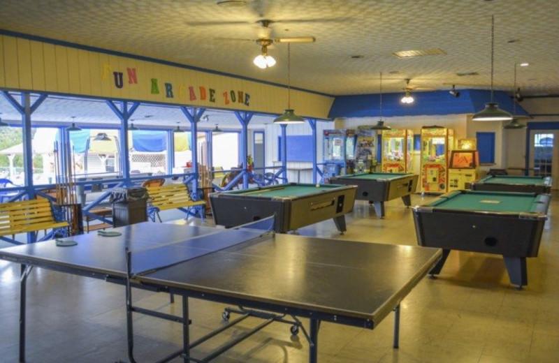 Game room at Lake Ridge Resort.