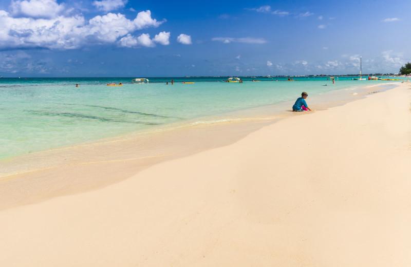 Beach at Comfort Suites & Resort.