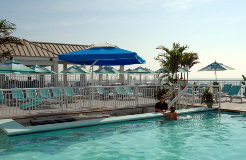 Outdoor pool at Hilton Suites Ocean City Oceanfront.