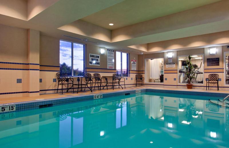 Indoor pool at Holiday Inn Huntsville.