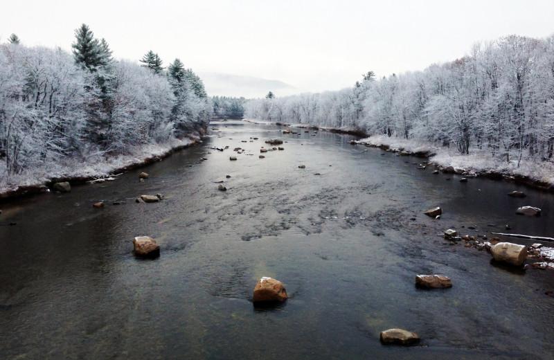 River near Attitash Mountain Village Resort.
