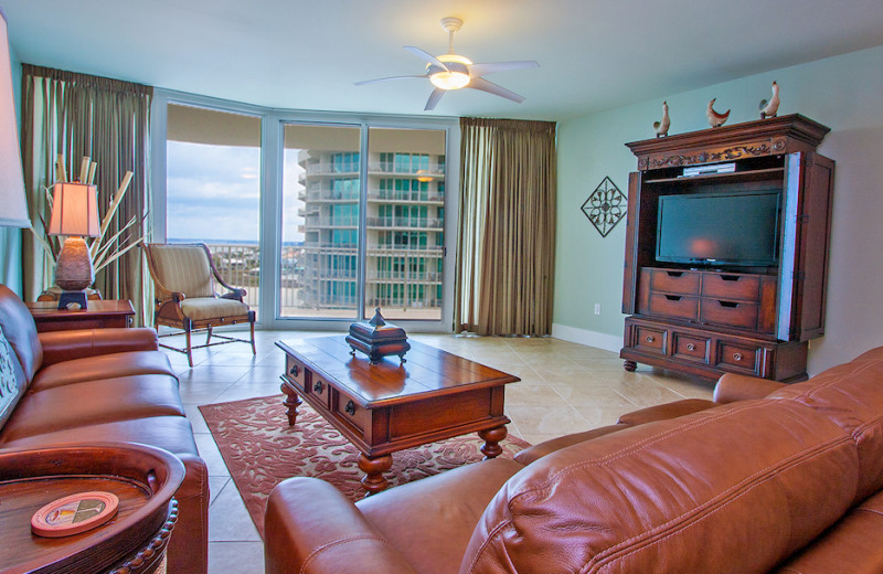 Guest living room at Caribe Resort.