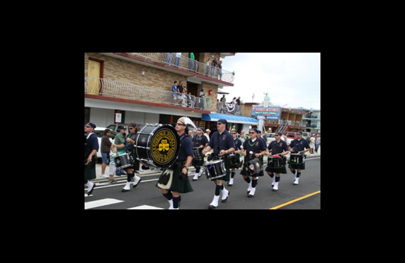 Irish parade at Florentine Family Motel.