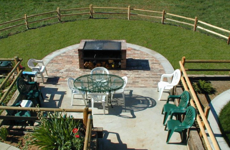 Patio view of K3 Guest Ranch.