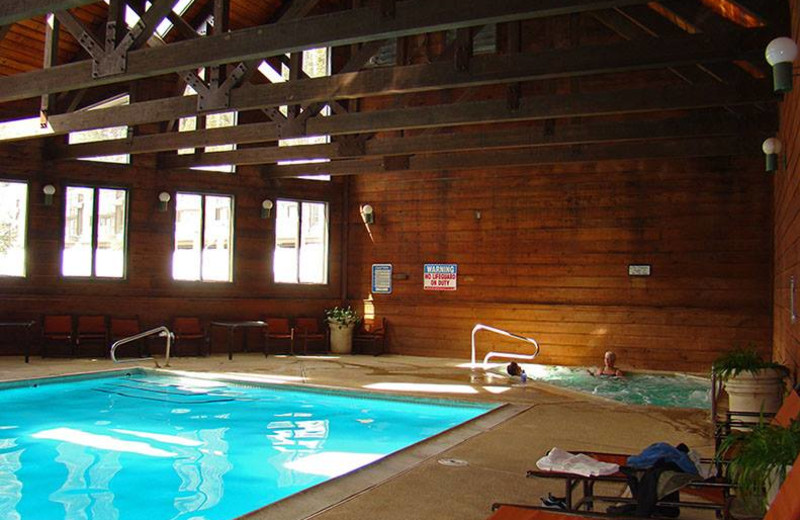 Indoor pool at Cascade Village Condominiums.