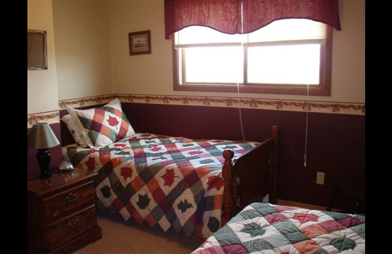 Guest room at Whiskey Butte Lodge.