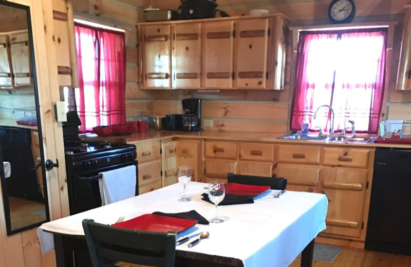 Tiny house kitchen at Elk Ridge Ranch.