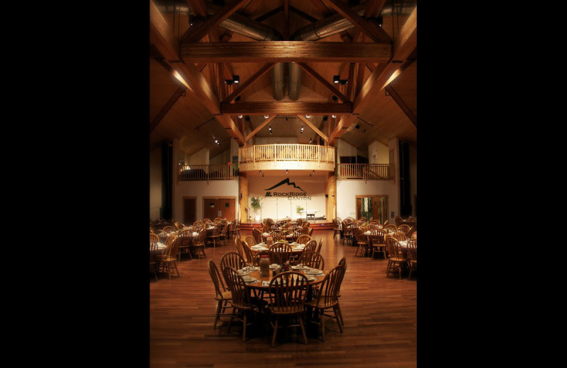Dining hall at RockRidge Canyon Camp & Conference Center.
